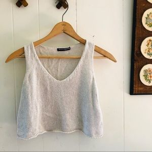 Brandy Melville • Neutral Knit Crop Top